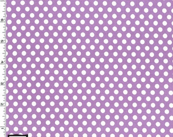 Kiss Dot Fabric - Purple - sold by the 1/2 yard