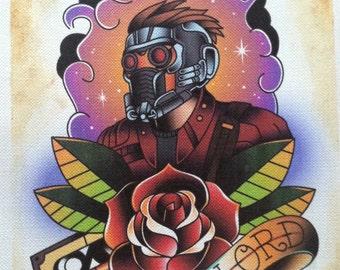 Guardians of the Galaxy- Star Lord tattoo flash print