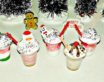 """Holiday Milkshakes for American Girl 18"""" Dolls Festive Drinks"""