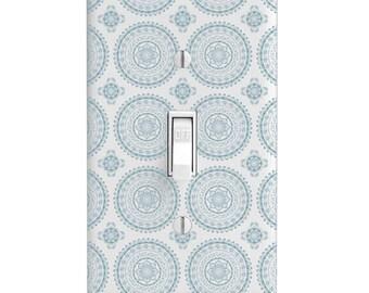 Home Decor Light Switch Cover-Mandala Tile Pattern-Housewarming-Lighting-Wall Decor-Bedroom Decor -Bathroom Decor-single light switch-Henna