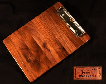 Mini Walnut Clipboard, grocery list holder, recipe holder, clipboard, list board, grocery board,