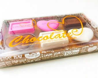 Valentine'sDay / Heart Erasers (Displayed as a Chocolate Box)