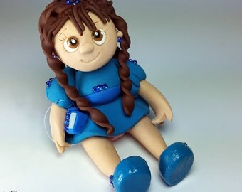 T1D Type One Diabetic Girl w/ Medtronic Diabetes Insulin Pump (Blue) Keepsake Figurine/Dolly/Doll/Figurine/Chibi/Statue/Statuette/Ornament