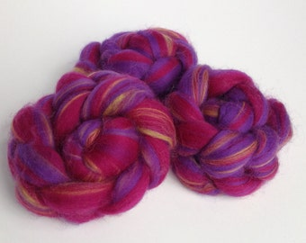 "2 oz. ""Tuity Fruity"" Superwash Wool Roving"