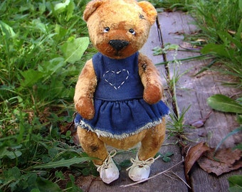 Teddy Bear ZOYA.Teddy bear.Vintag teddy.Bear teddy.Old teddy bear. OOAK