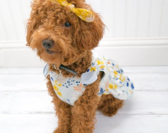 Dog Clothes, Girl Dog Dress Floral Print
