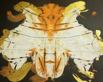 Rorschach test painting: Bee knees