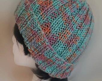 Teal Multicolor Hat w/ Brim
