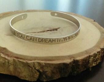 Dream Cuff Bracelet Hand stamped