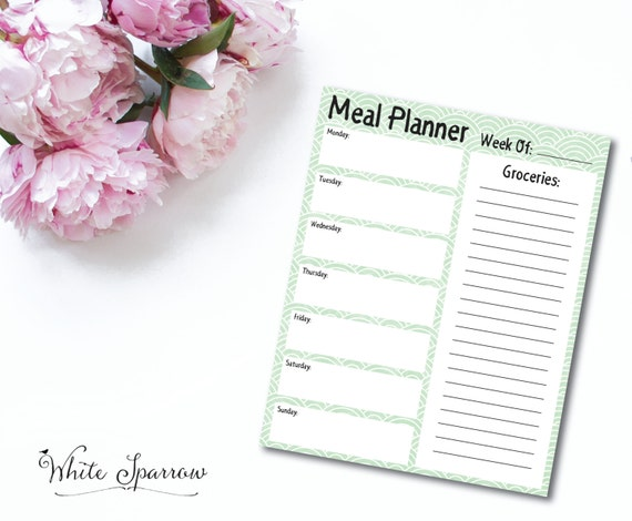 party menu planner template - weekly meal planner weekly menu planner meal planning