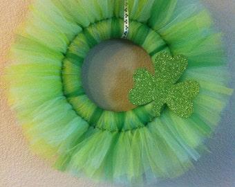 St. Patricks Day tulle wreath