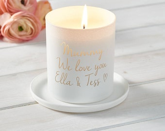 Glow Through Love You Mummy Candle, Candle, Personalised Candle, Scented Candle, New mums, Gifts for her, Mothers Day Gift, Home decor.
