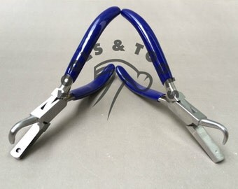 HIGH QUALITY DIMPLE pliers with hook jaw 1 and 3 mm jewelry making forming crafts