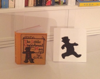 The Gingerbread Man, miniature book, 1/6, and 1/12 scale