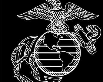USMC EGA marines emblem vinyl decal