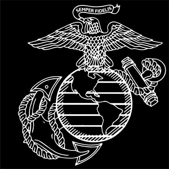 USMC EGA marines emblem vinyl decal  USMC EGA marine...