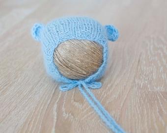 Angora bear hat| Newborn photo prop