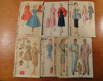 Lot of Vintage Simplicity Printed Patterns