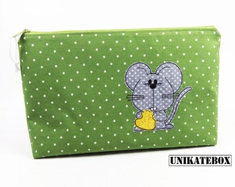Wash bag diaper bag with extra pockets cute mouse