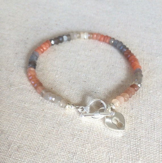 Items similar to Rainbow MOONSTONE Natural Multi Color ...