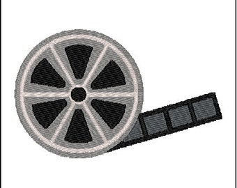 Movie Film Reel Embroidery Design