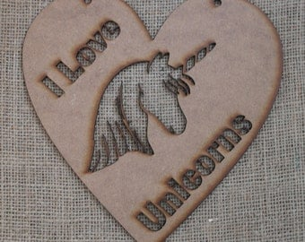 I Love Unicorns! Declare your passion for unicorns with our enchanting unicorn heart