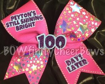 Still Shining Bright 100 Days Later Cheer Bow