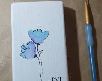 watercolor flowers mini block