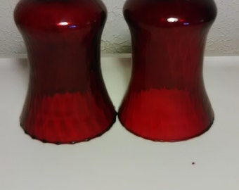 Two (2) tall Red Candle Votives