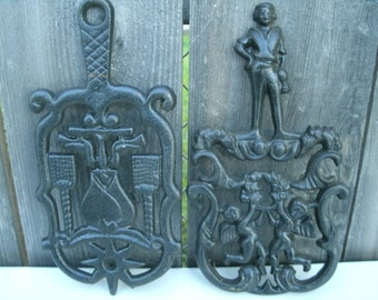 Two vintage Iron Trivets