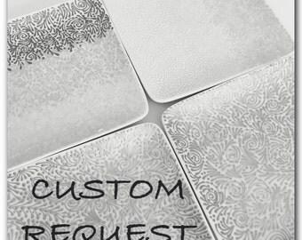Square Jewelry Plate Custom Request