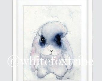 Bunny Print, Wall art print, Watercolour Print, Watercolour, Nursery Wall Art, Wall Art Prints, Prints, Nursery Decor, Nursery Wall Art