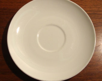 Vintage Corning saucer, Centura Coupe, white
