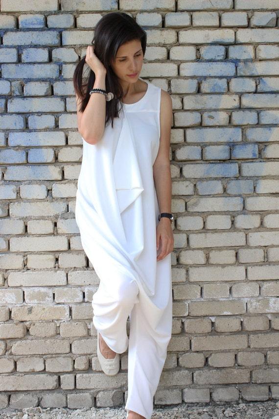 white jumpsuit loose jumpsuit plus size jumpsuit maxi. Black Bedroom Furniture Sets. Home Design Ideas