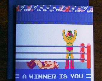 Pro Wrestling Congratulations Card