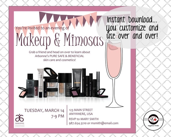 Arbonne Makeup Party Invitations Mugeek Vidalondon