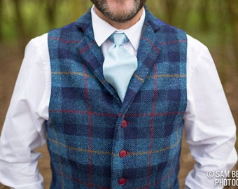 Harris Tweed Waistcoat - MADE TO ORDER. From