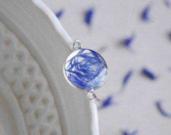 Blue cornflower bracelet Real flower Unique Bracelet Nature Bracelet Resin jewelry Botanical bracelet Resin flower Gift idea for her