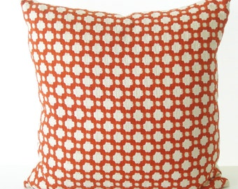 Schumacher Betwixt Spark Warm Red Pillow Cover - Decorative Pillow - Made to Order by UPSTYLE