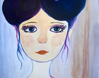 Melancholy girl
