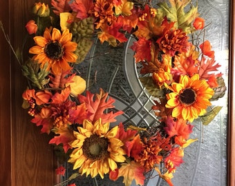 Full fall wreath