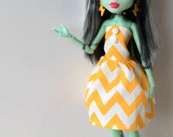 Go Gold Childhood Cancer Awareness Dress Limited Edition for Monster Doll