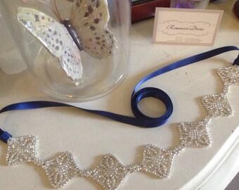 Bridal sash, Art Deco belt, bridal belt, rhinestone belt, belt, dress bling, bridal accessories, bridemaids accessories, bridesmaids