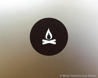FIRE MACBOOK DECAL - Macbook Apple decal - Macbook Apple light cover - Mac Decal - Apple Laptop Decal - Fire Decal - Campfire Decal