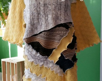 SALE///VENTE!!!!    No. 156 - Eco Friendly Recycled Sweater Dress - Size XS