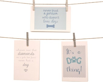 I Love My Dog Collection Stationery - Set of 6 note cards - 5-1/2 x 8-1/2 - Envelopes Included