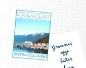 Horseshoe Bay West Vancouver B.C. Fridge Magnet - Love This Place Cityscape -  Canada - Gift Art The Jitterbugshop