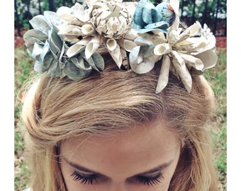 Through the Looking Glass Floral Crown