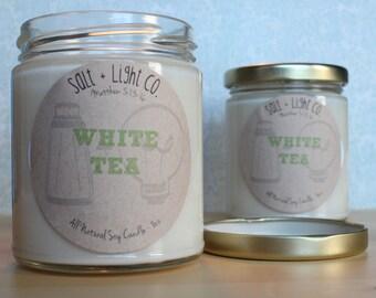 WHITE TEA // Natural Soy Candle // 8oz