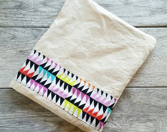 Color Block Triangle -- Snack / Sandwich / Quart / Gallon Size Reusable Bag -- Natural Canvas -- Made to Order
